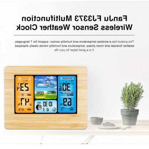 Weather Station Clock Wireless Digital Touch