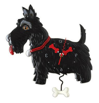 whimsical black scottish terrier dog