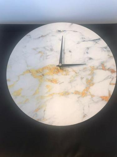 white and gold marbleized effect decorative wall