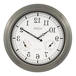 Large Atomic Wall Clock Accurate Thermometer Humidity Indoor