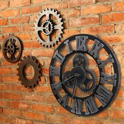 Large Outdoor Garden Wall Clock Roman Numeral Slient Giant 3