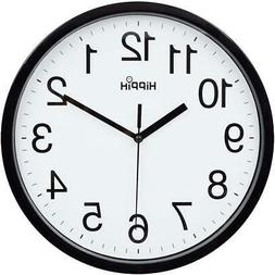 LARGE WALL CLOCK Battery Operated Round Silent Non Ticking H