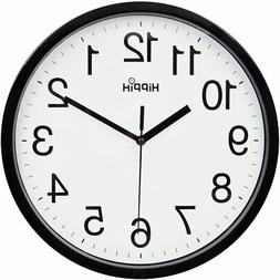 Large Wall Clock Silent Indoor Outdoor Battery Powered Analo
