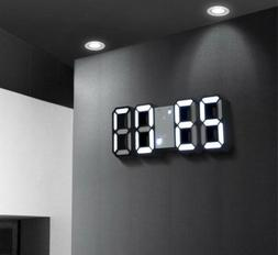 LED 3D Digital Clock Alarm Date Temperature Display Desk Tab