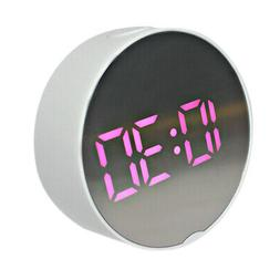 LED Digital Alarm Clock Battery Operated Only Small for Bedr