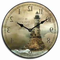Lighthouse 2 Non ticking Whisper Quiet Wall Clock Perfect Ro