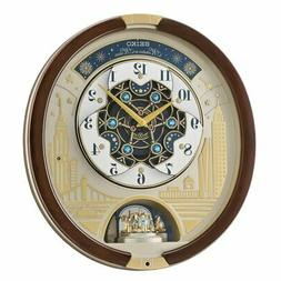 Seiko Melodies in Motion Musical Wall Clock Starry Night Ove