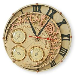 Meteorology Tre Automaton large wall clock with weather stat