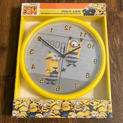 MINIONS Despicable Me 3 Wall Clock NEW! Kids Bedroom Playroo