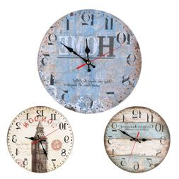 Modern Retro Wall Clock Watch Clocks Wood Round Clocks for B