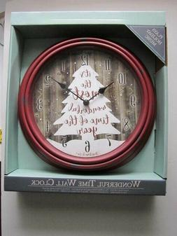 """NEW!  HOLIDAY THEMED MUSICAL 12"""" WALL CLOCK--BATTERY OPERATE"""