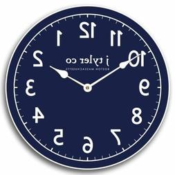 New Traditional Navy Wall Clock  ,Perfect Round Home Wall Cr