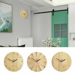 Nordic Round Wooden Wall Clock For Home Living Room Office D