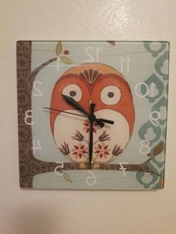 Owl Clock Contemporary - Very Cute - NEW - Battery Operated