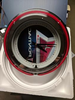 Pontiac Double Neon Wall Clock Great For Garage Man Cave