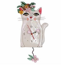 Allen Designs Pretty Kitty Pendulum Wall Clock