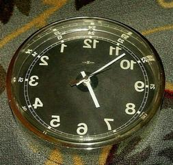 Rare Vintage Howard Miller Estate Wall Clock Mirror Like Cas
