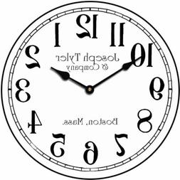 Simply White Wall Clock, large wall clock, Ultra Quiet, 8 si