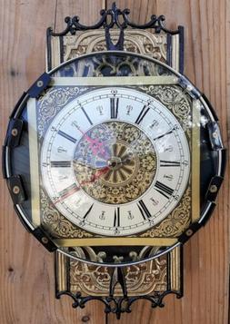 Steampunk Wall Clock- Vintage Metal Clock Dial- Glass Bezel