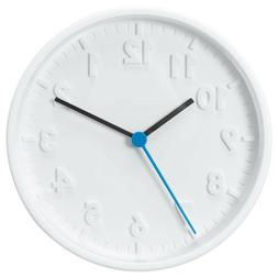 stomma white wall clock battery operated