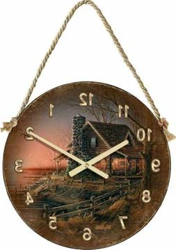 """Terry Redlin Comforts of Home 21"""" Round Hanging Clock"""