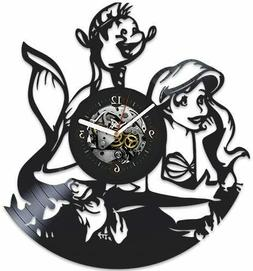 The Little Mermaid Xmas Gift Vinyl Clock FAST USA SHIPPING D