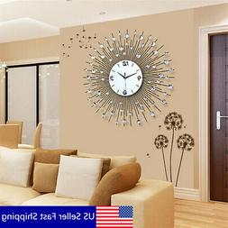 US 60*60CM Iron Art Metal Living Room Round Diamond Wall Clo