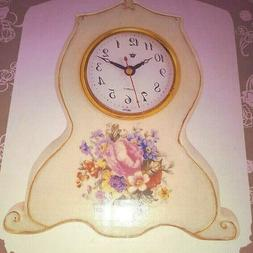 Victorian Floral Porcelain Clock - New in Box