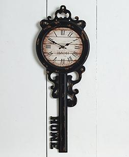 The Lakeside Collection Vintage-Inspired Key Wall Clock - Ho