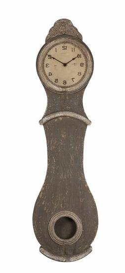 VINTAGE SWEDISH FRENCH STYLE  MORA  GREY WALL CLOCK IN STOCK