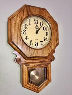 Vintage Howard Miller  Wall Hanging Clock Pendulum Antique