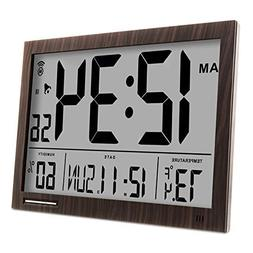 Digital  Wall Clock with Weather Forecast  Indoor Temperatur