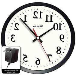 """Westclox 14"""" Round Electric Powered Office Wall Clock, White"""