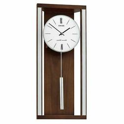 Seiko Wall Clock with Pendulum and Dual Chimes, Wooden Case,