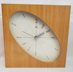 Infinity Wall Clock Wood Stretched Oval Face Quartz Modern S