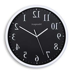 Wall Clocks Battery Operated Silent Non-ticking 12 inch Roun