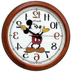 Seiko clock wall Mickey Mouse radio analog large wooden fram