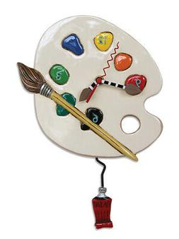 "Allen Designs ""Art Time"" Whimsical Artist Palette Pendulum W"