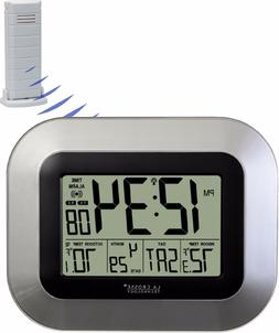 LA CROSSE TECHNOLOGY WS-8115U-S Atomic Digital Wall Clock wi