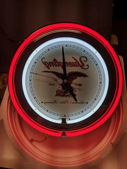 Yuengling Double Neon Wall Clock Great For Garage Man Cave